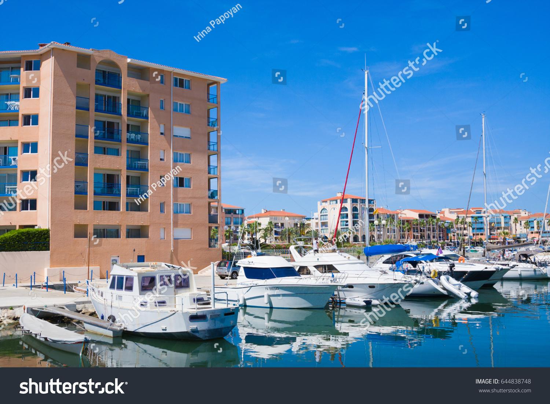 Argeles Sur Mer France July Stock Photo Shutterstock - Residence port argeles