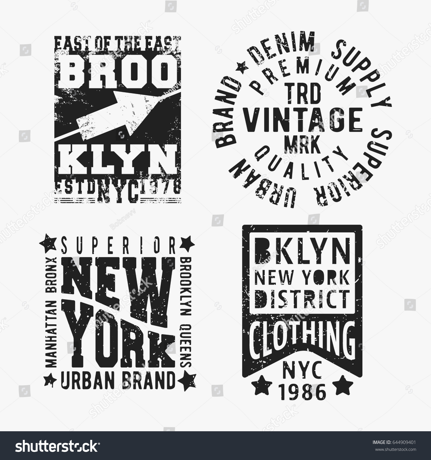 Design t shirt label - T Shirt Print Design Set Of Various Vintage Stamp Printing And Badge Applique