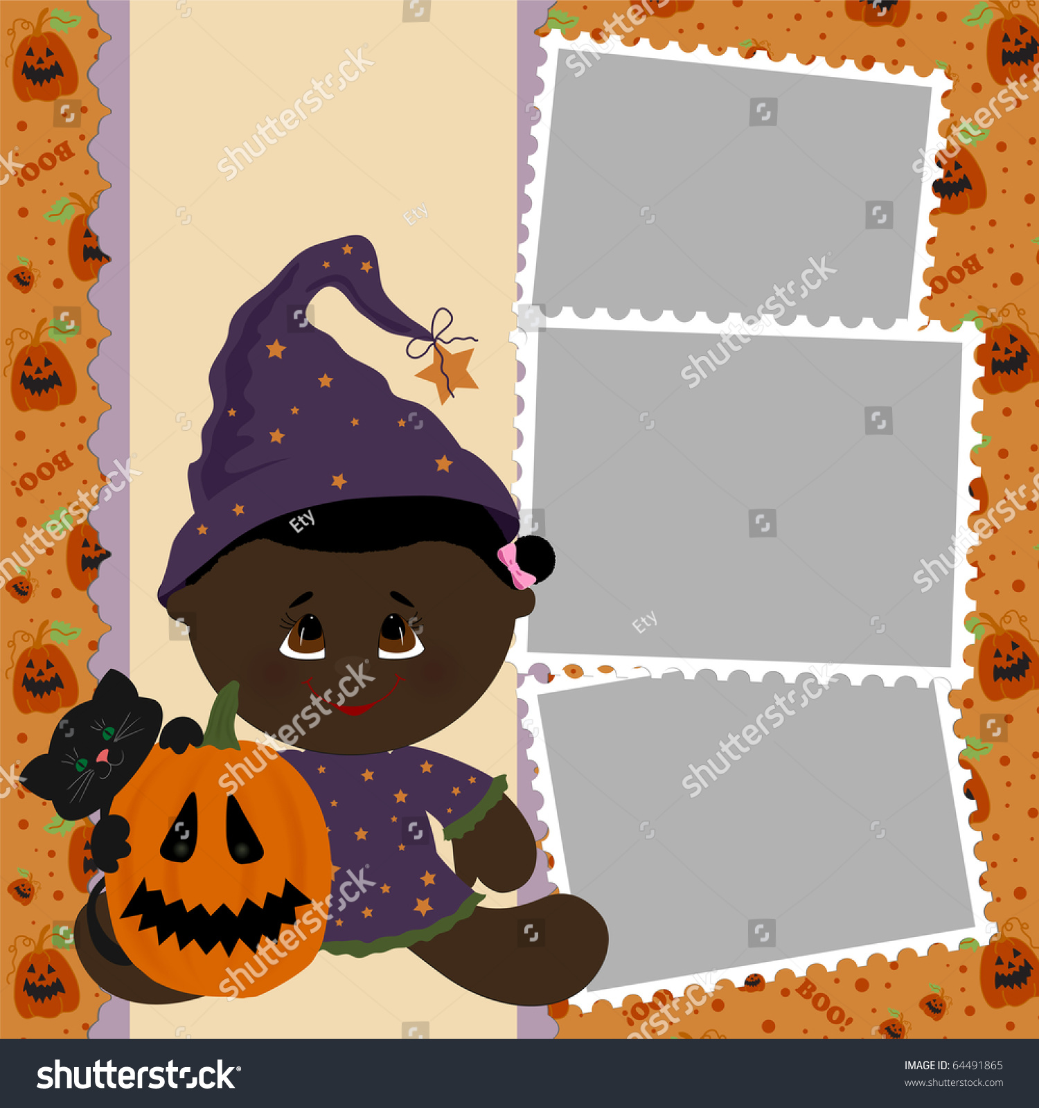 Blank Photo Post Card With Frame Stock Photo Image Kotaksurat