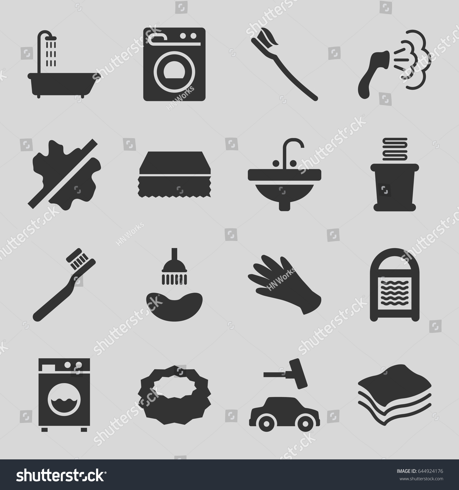 Wash icons set set 16 wash stock vector 644924176 shutterstock wash icons set set of 16 wash filled icons such as shower toothbrush biocorpaavc