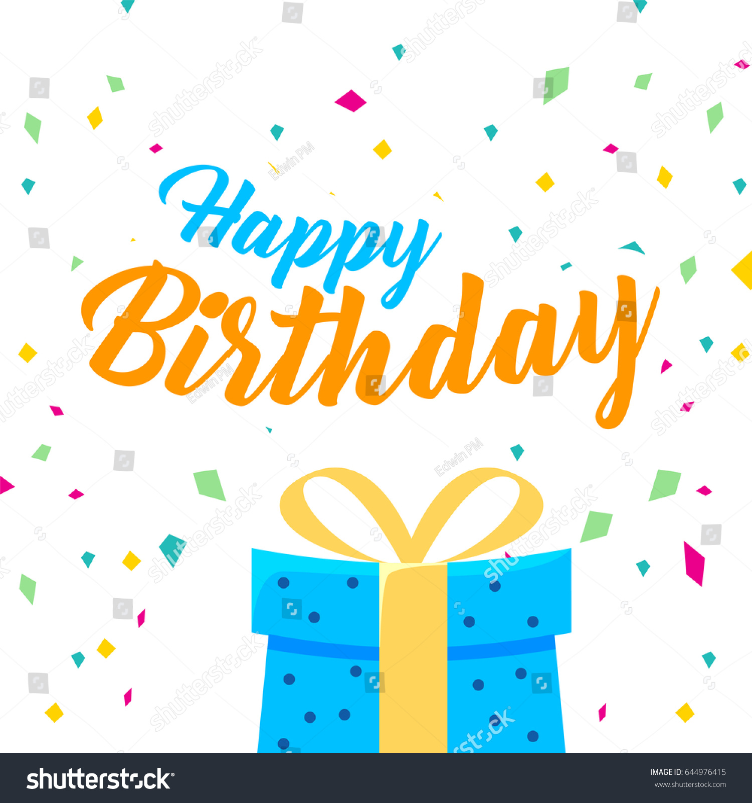 Happy Birthday Vector Design Greeting Cards Stock Vector