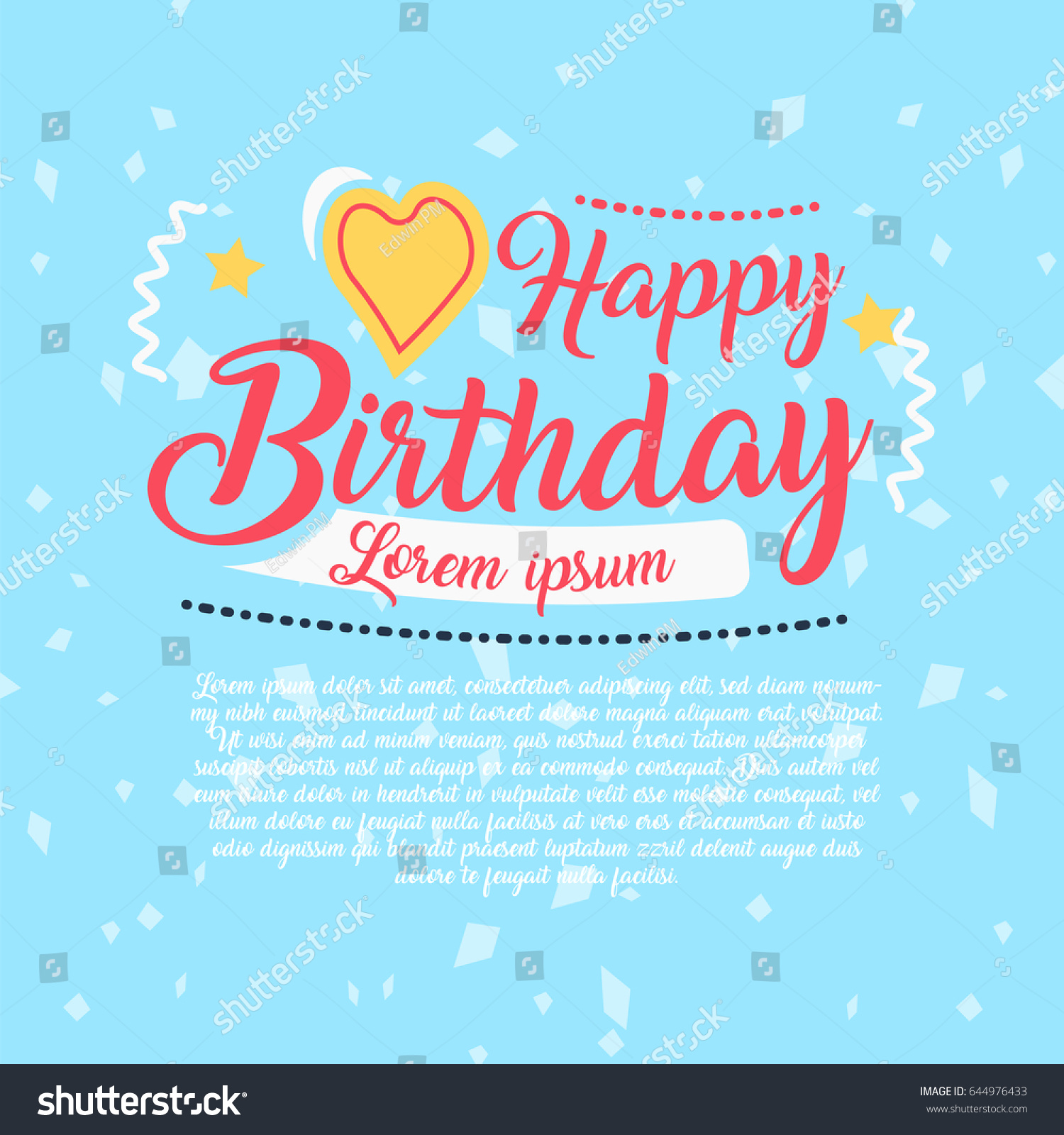 Happy birthday vector design greeting cards stock vector 644976433 happy birthday vector design for greeting cards birthday card invitation card kristyandbryce Images
