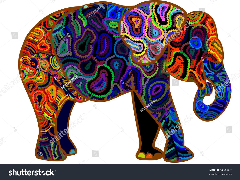 Elephant different elements symbol africa stock vector 64500082 elephant from different elements is a symbol of africa buycottarizona Images