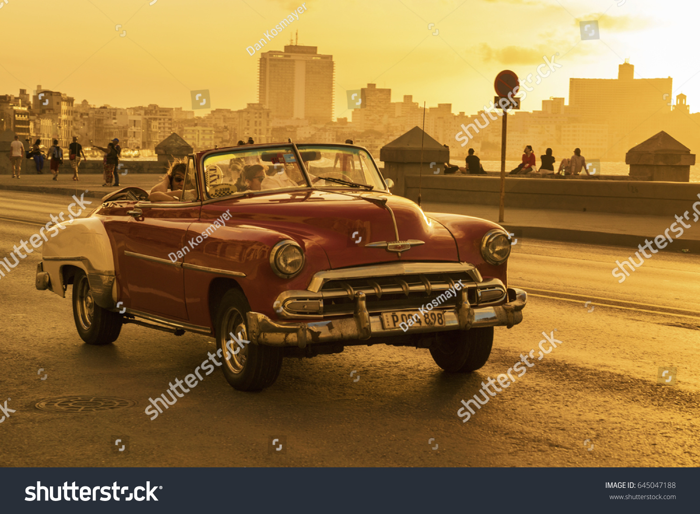 HAVANA APRIL 02 2017 Old American Stock Photo (Royalty Free ...