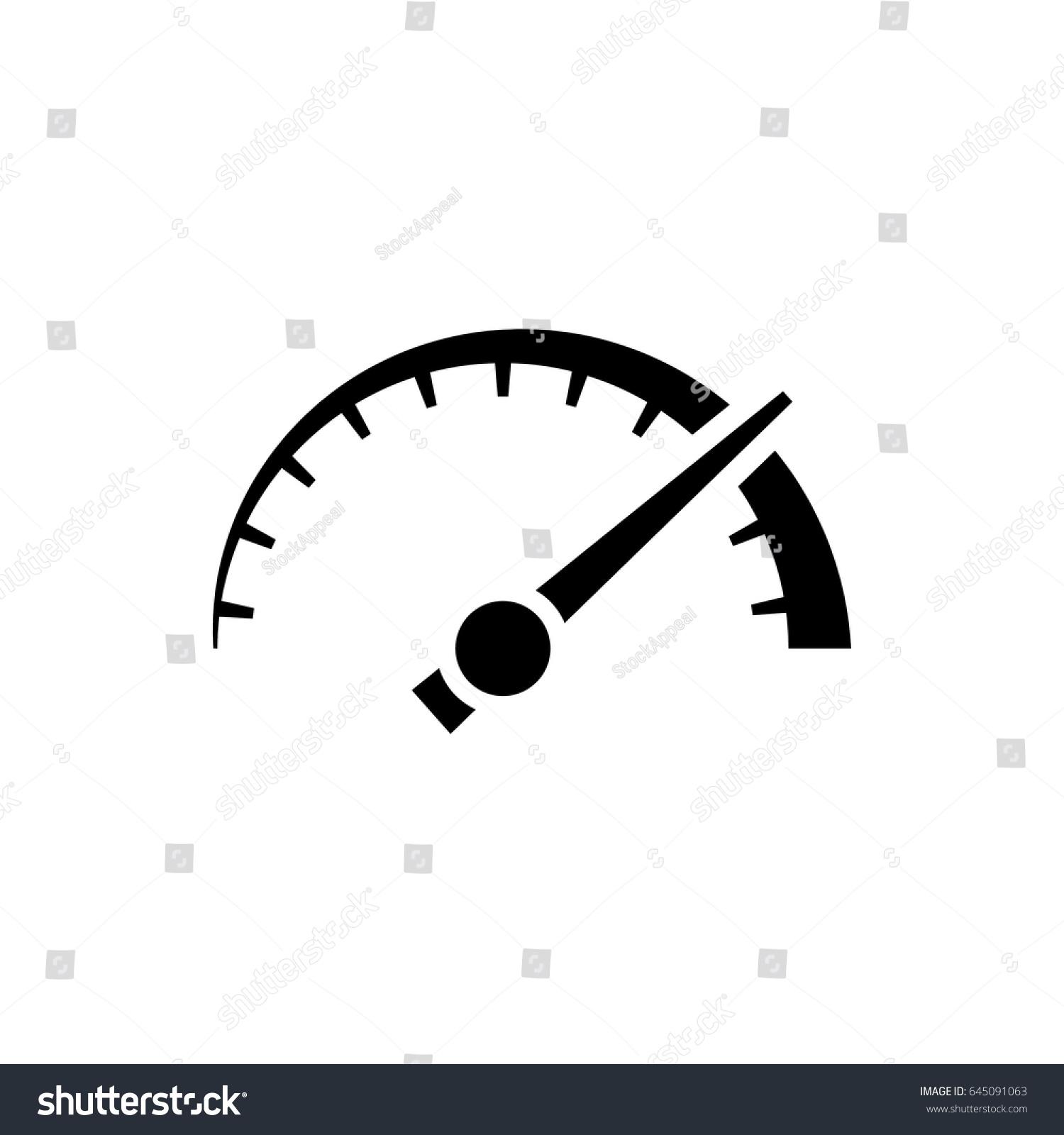 vector speedometer odometer icon thick black stock vector 2018 rh shutterstock com vector speedometer manual speedometer vector icon