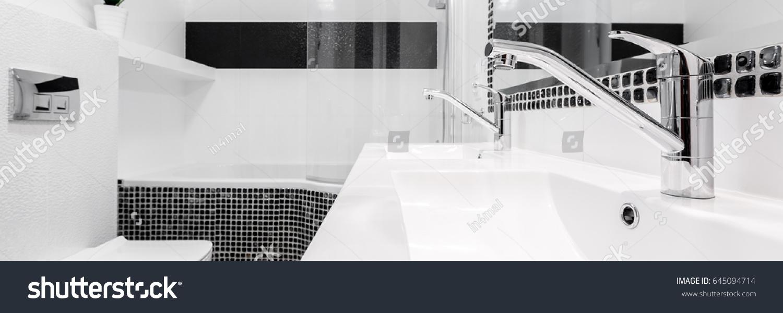 Fancy Bathroom Taps Black White Classical Stock Photo (Edit Now ...