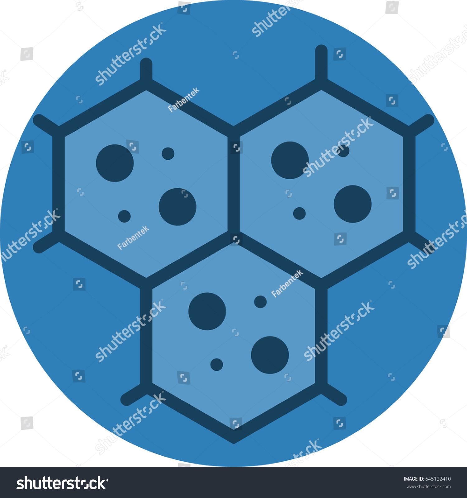 Multicellular Cell Structure Icon Vector Stock Royalty Diagram Of A For Microscopic View