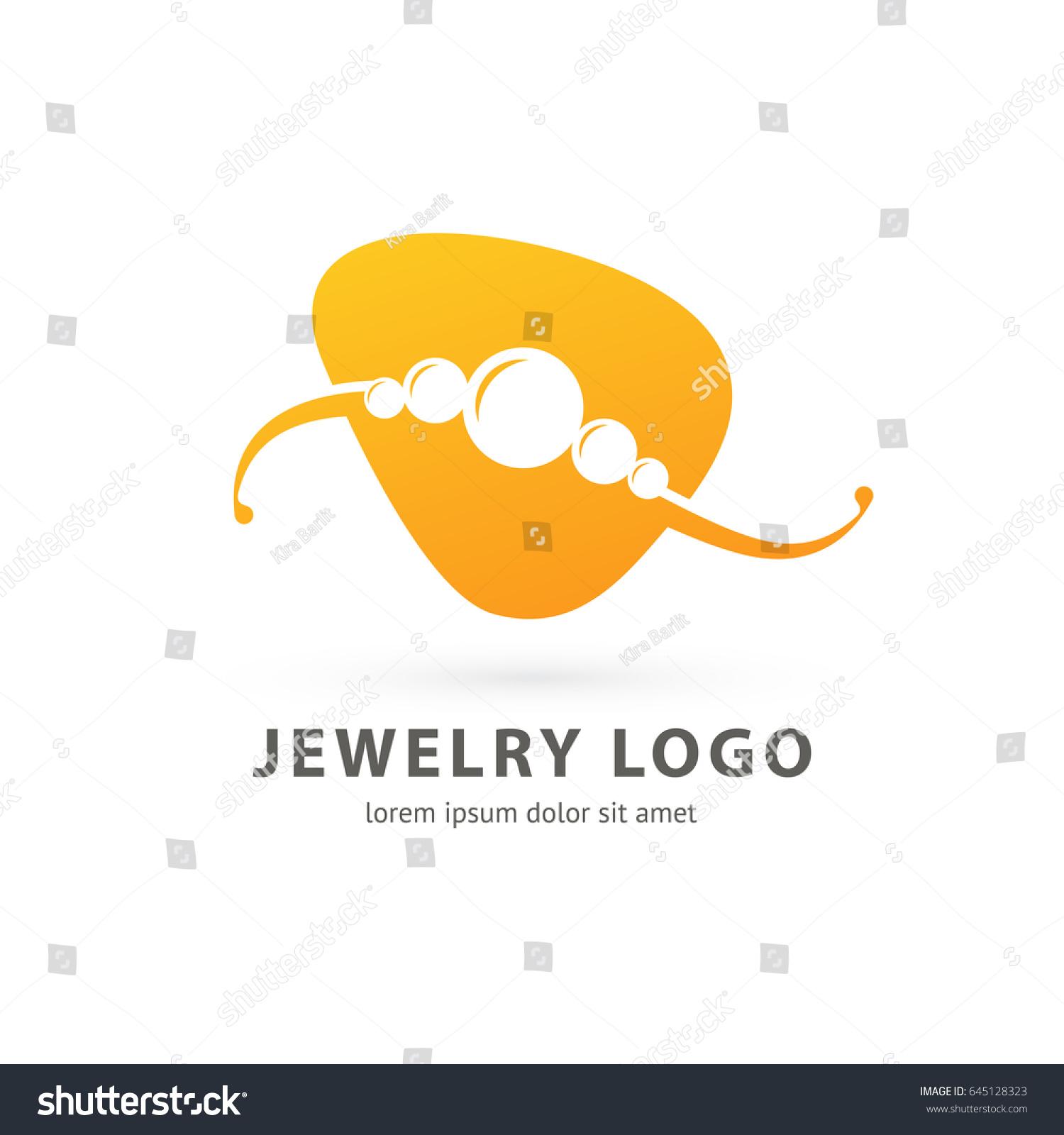 Logo Design Abstract Necklace Vector Template Vector de stock (libre ...