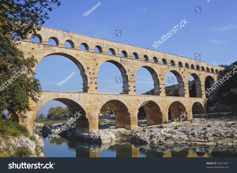 pont du gard roman aqueduct near stock photo 64513927 shutterstock