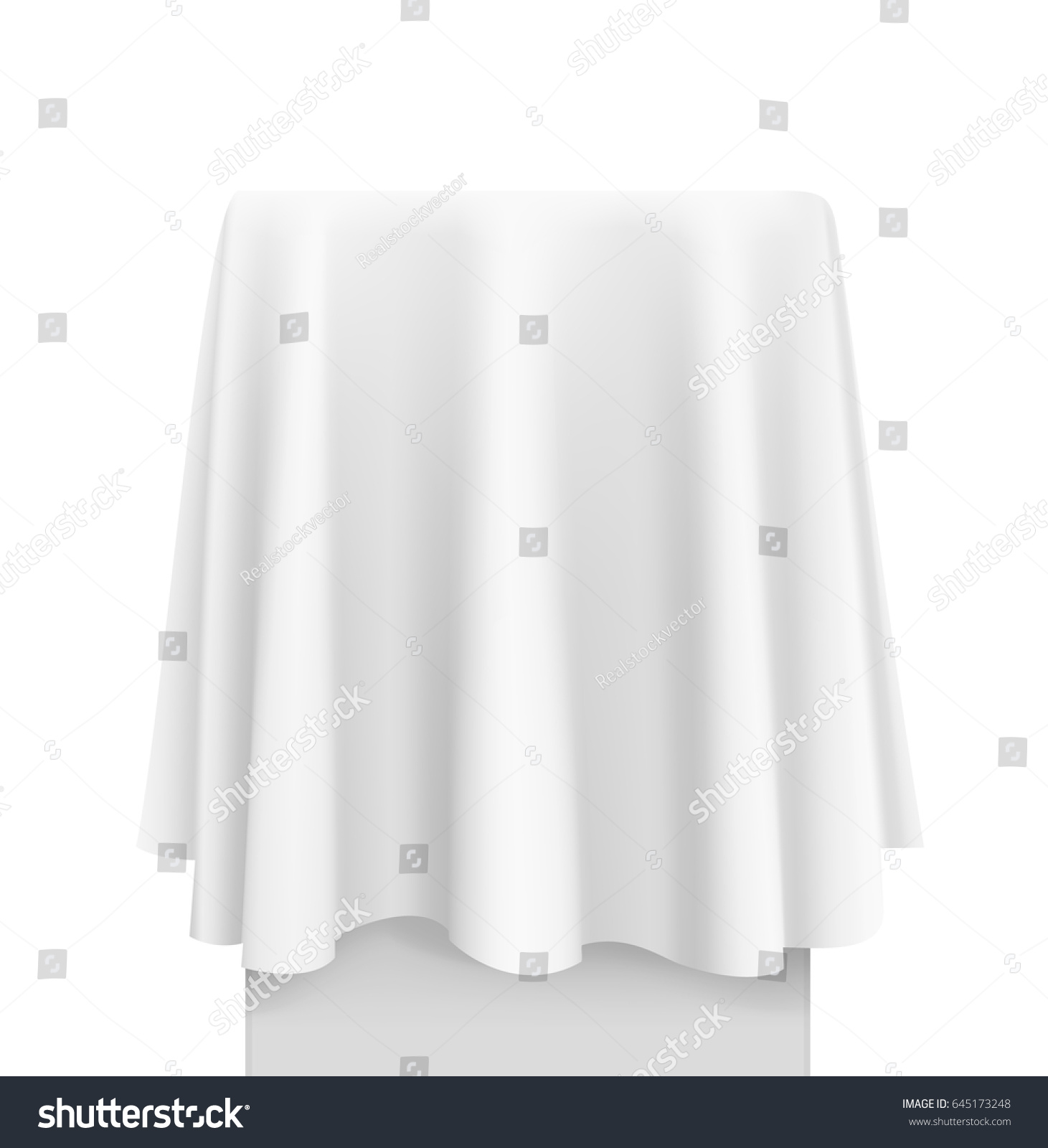 White round tablecloths cheap - White Round Tablecloth Draped Over A Table Vector Illustration On White Background