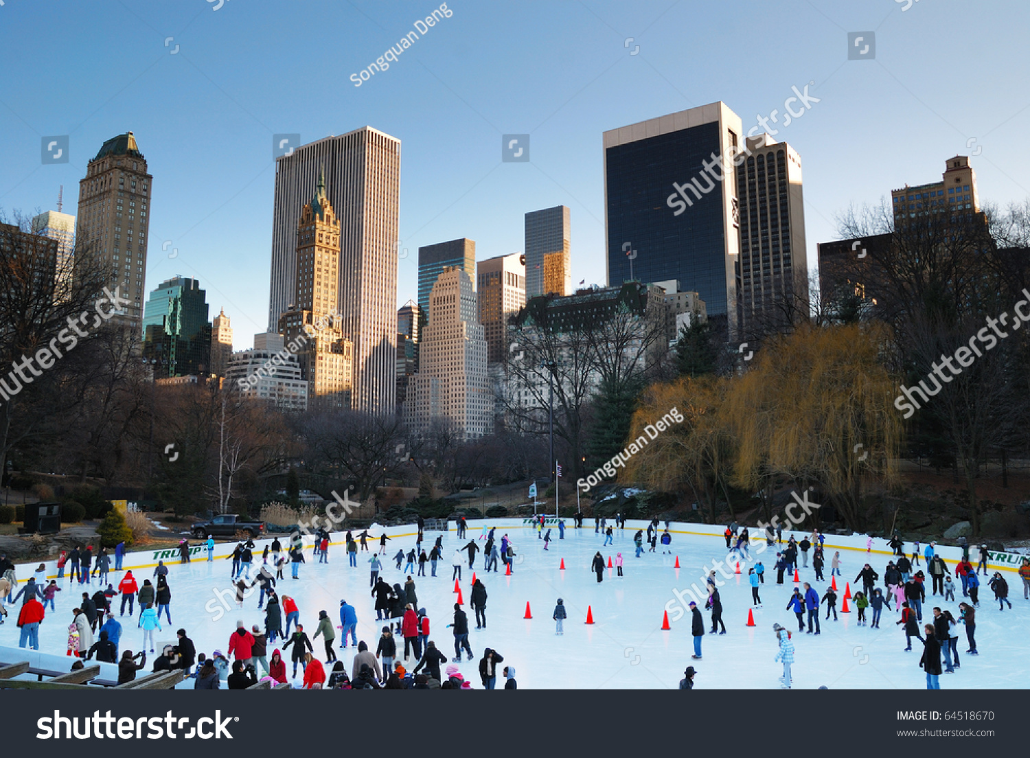 ice skating people with white christmas in central park on december 11 2013 in manhattan new york city usa ez canvas
