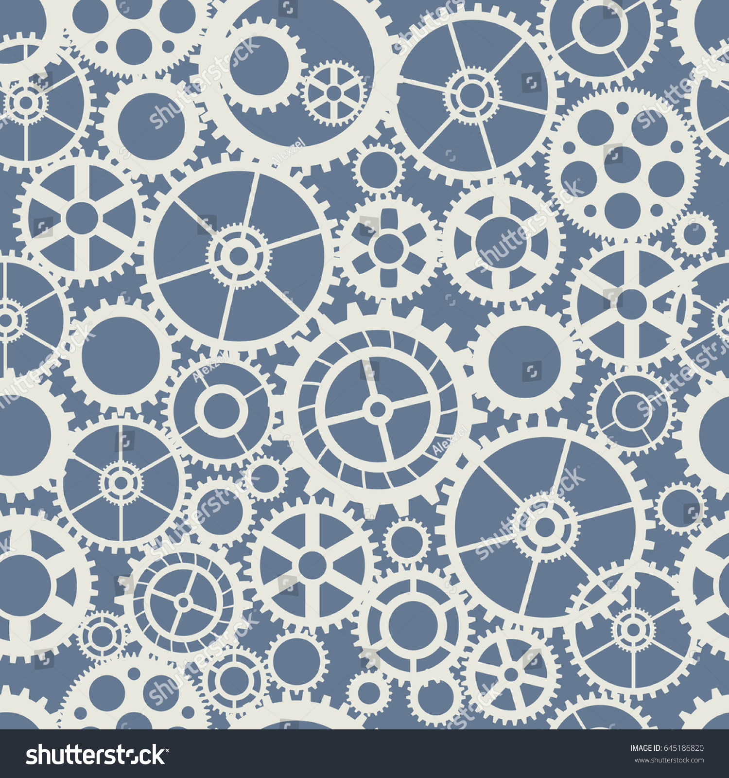 seamless wheel gear machine pattern industry stock vector royalty