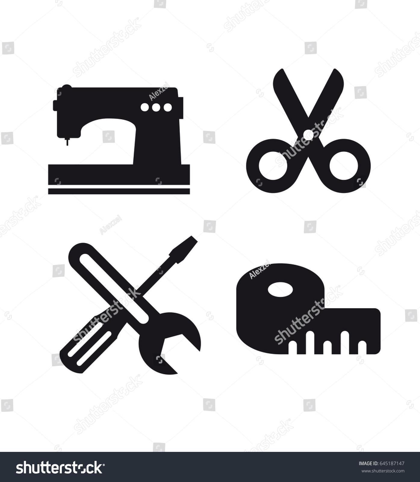 Set Craft Logo Business Idea Tool Stock Vector Royalty Free