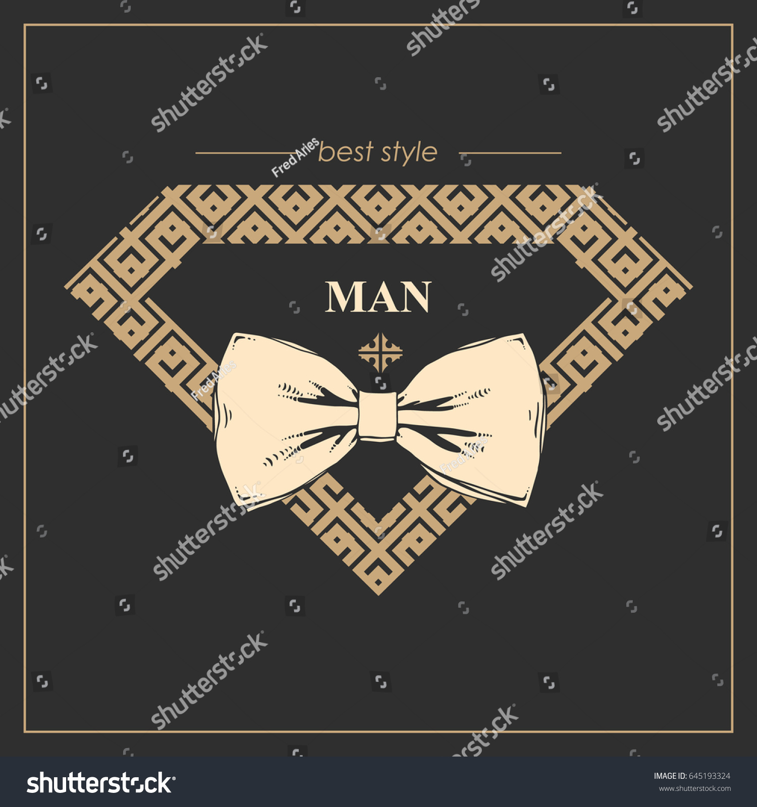 Drawing Bow Tie Logo Clothes Gold Stock Vector HD (Royalty Free ...