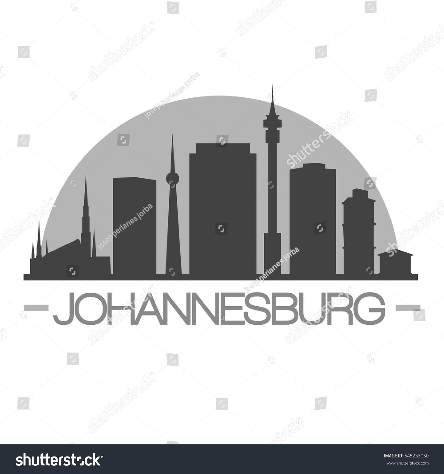 Johannesburg skyline vector illustration linear johannesburg south johannesburg skyline silhouette skyline stamp vector city design thecheapjerseys Image collections