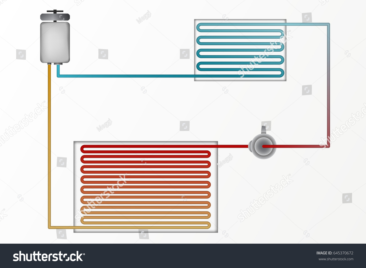 stock vector diagram of air conditioning vector illustration the technology of heating and cooling split 645370672 diagram air conditioning vector illustration technology stock air conditioning diagram at soozxer.org