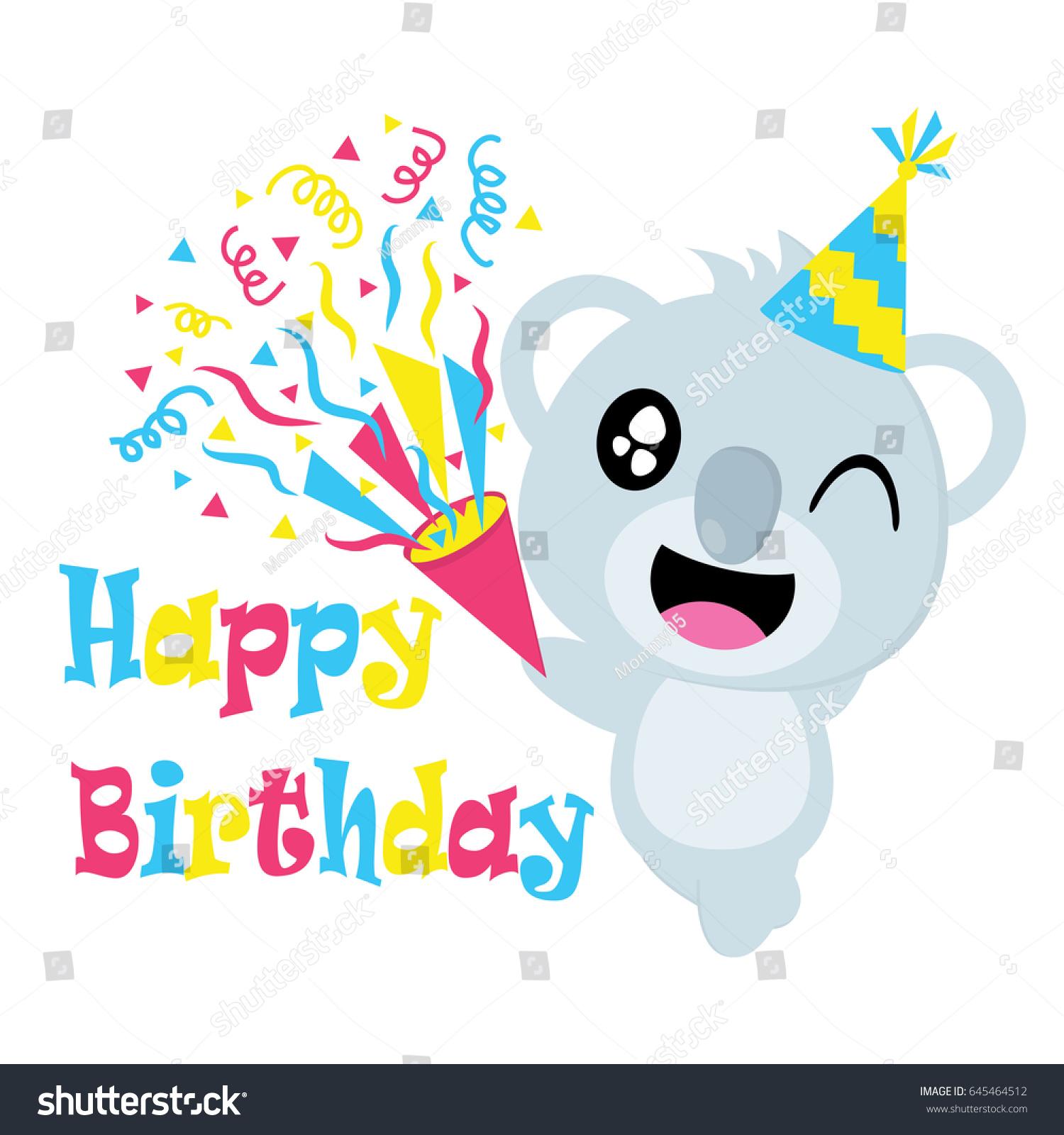 Most Inspiring Wallpaper Koala Cartoon - stock-vector-cute-koala-with-hat-vector-cartoon-birthday-postcard-wallpaper-and-greeting-card-t-shirt-design-645464512  Pic_94322   .jpg