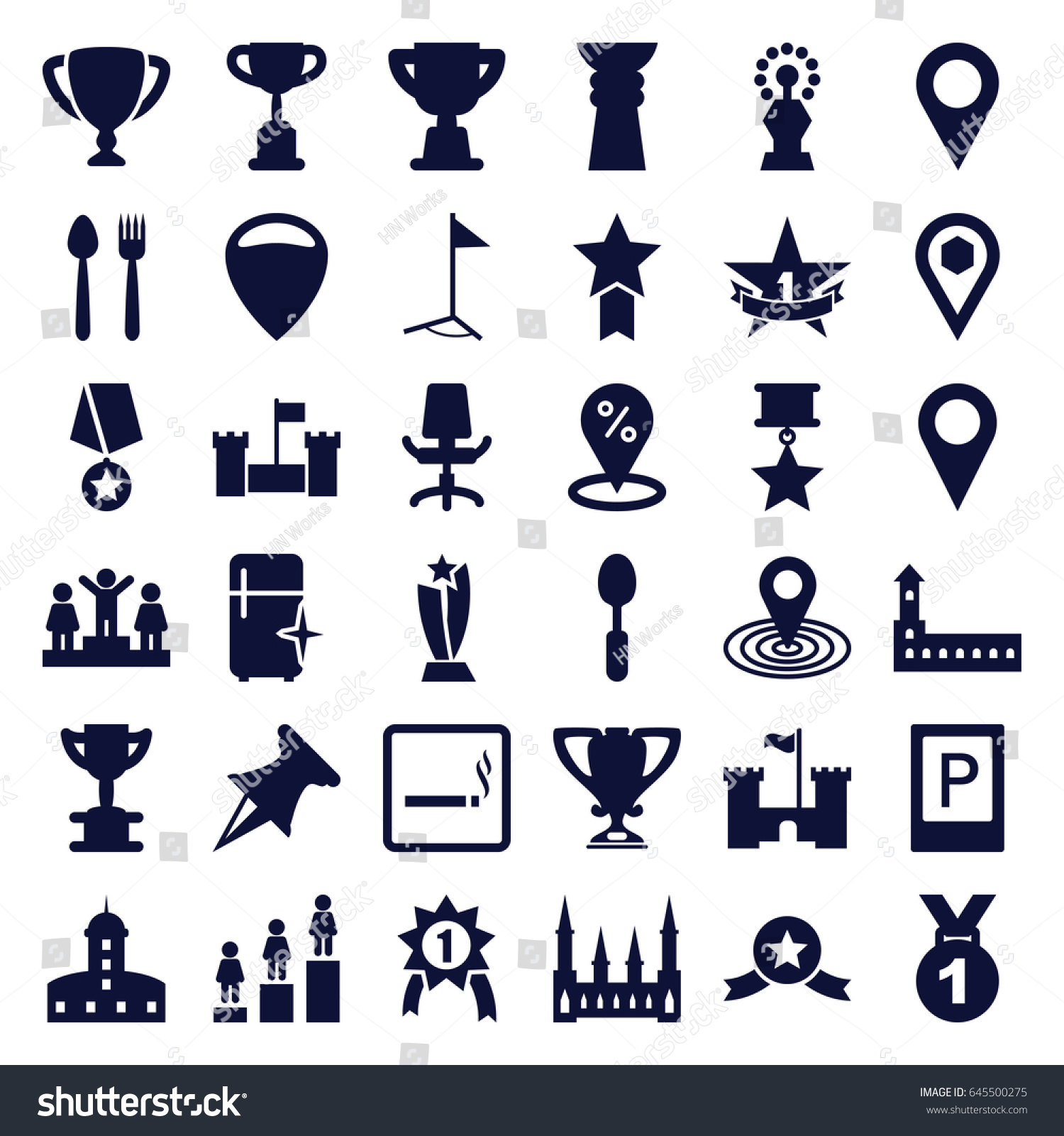 Place icons set set 36 place stock vector 645500275 shutterstock place icons set set of 36 place filled icons such as parking smoking area biocorpaavc Image collections