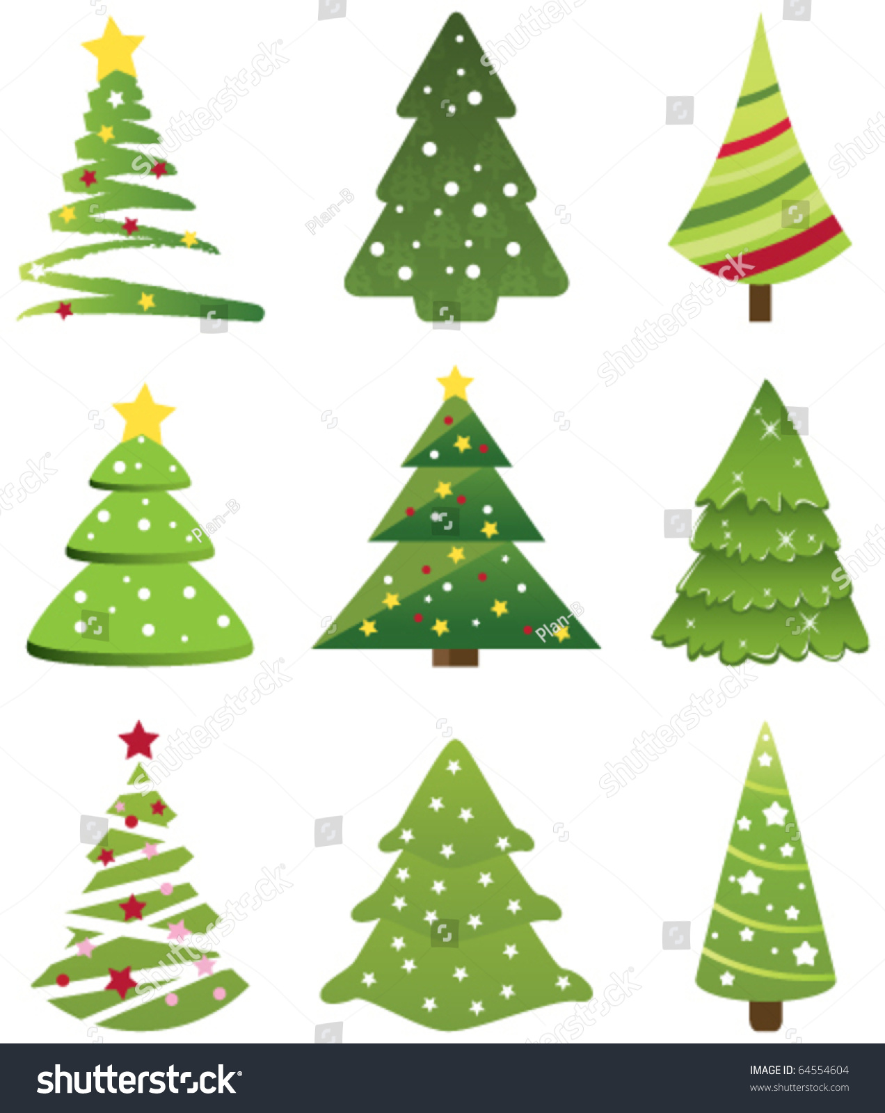 Christmas Tree Collection Gravesend : Christmas tree collection vector  shutterstock