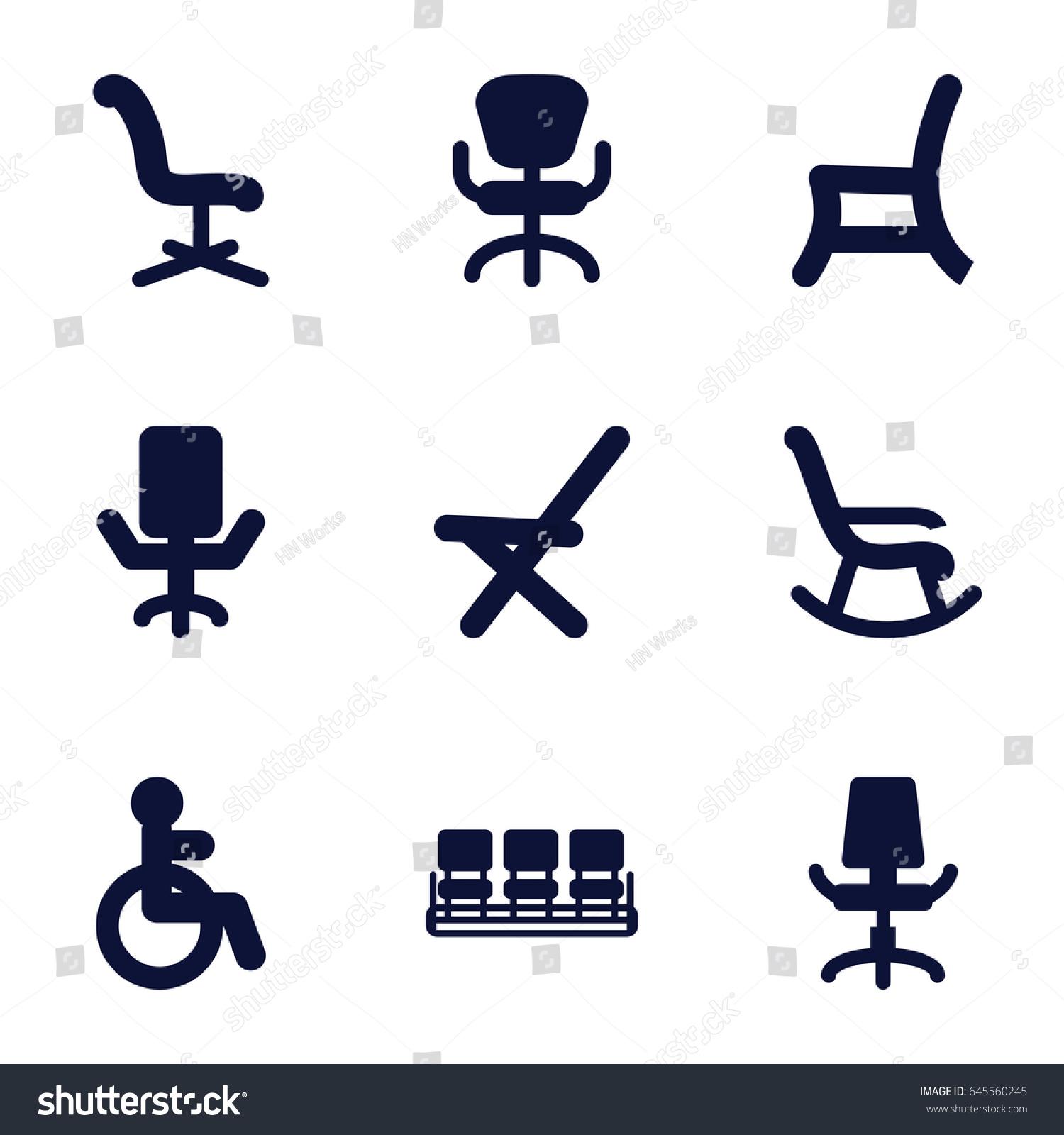 Armchair Icons Set Set 9 Armchair Stock Vector 645560245 - Shutterstock