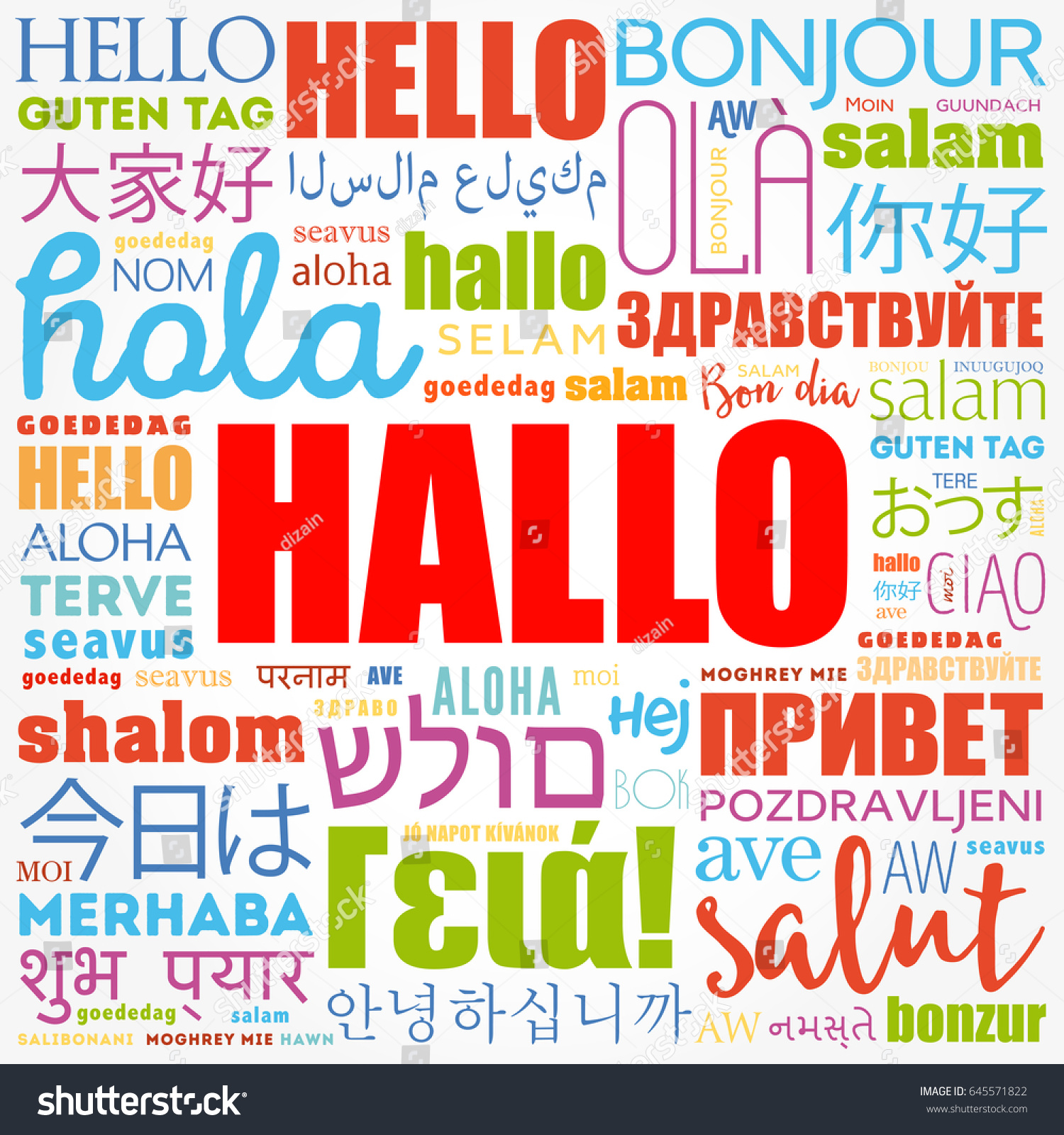 Hallo hello greeting german word cloud stock vector 645571822 hallo hello greeting in german word cloud in different languages of the world kristyandbryce Image collections