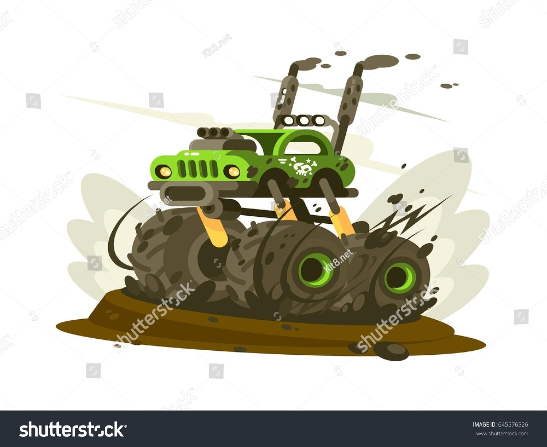 SUV Monster Truck Stock-Vektorgrafik 645576526 – Shutterstock