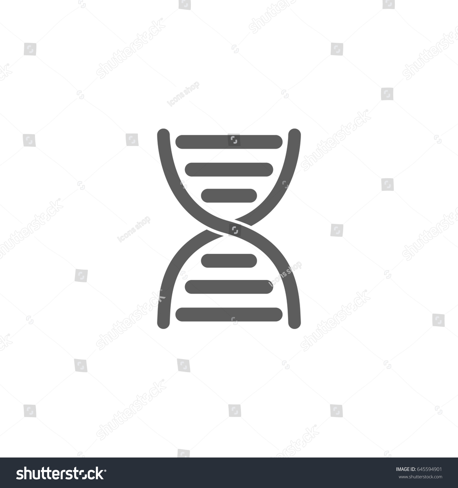 Dna Icon Trendy Flat Style Isolated Stock Photo Photo Vector
