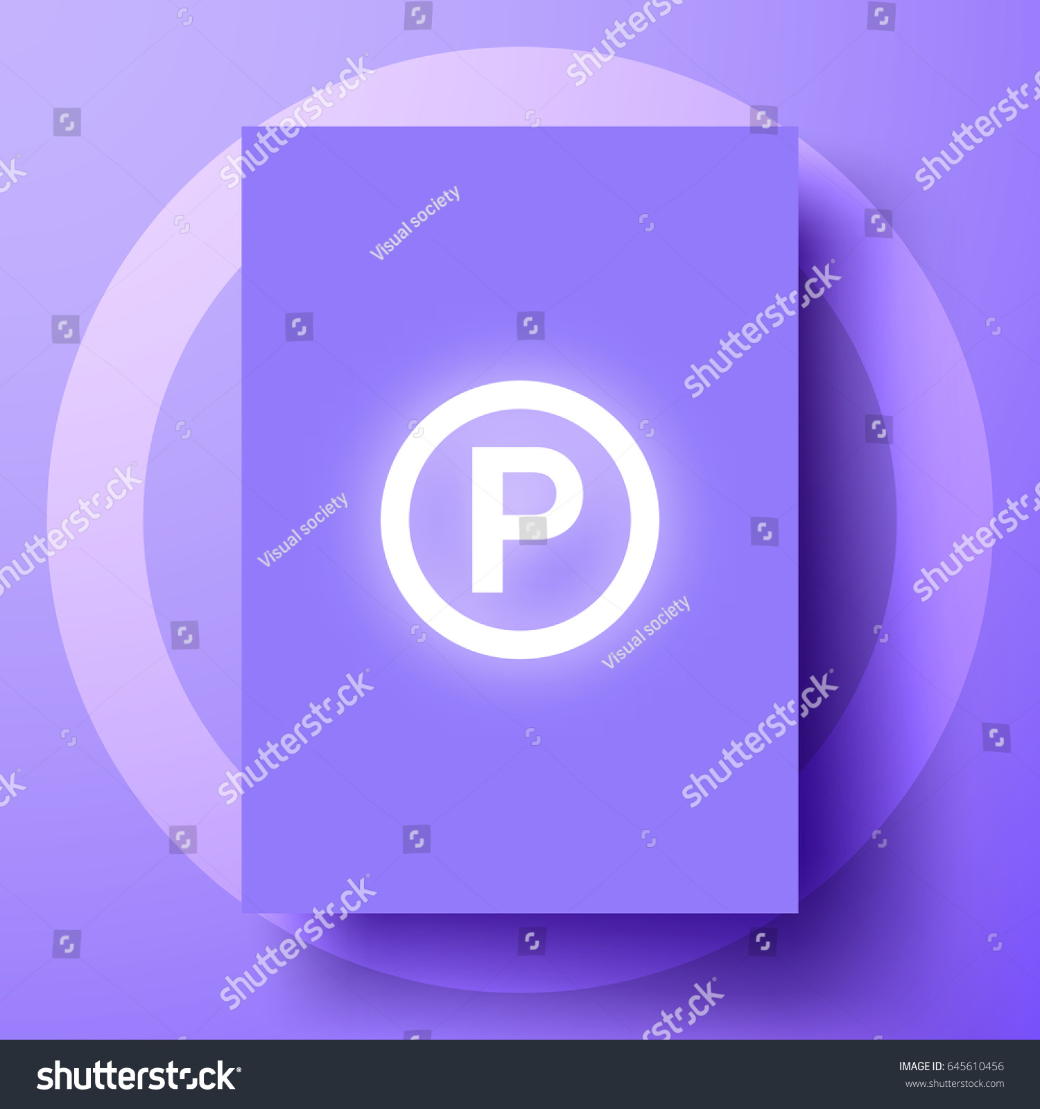 P sound recording copyright symbol shining stock vector 645610456 p sound recording copyright symbol shining on a purple poster isolated on violet background biocorpaavc
