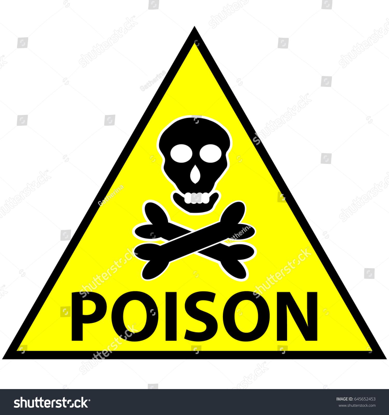Symbol Marking Toxic Poisoning Stock Vector Royalty Free 645652453