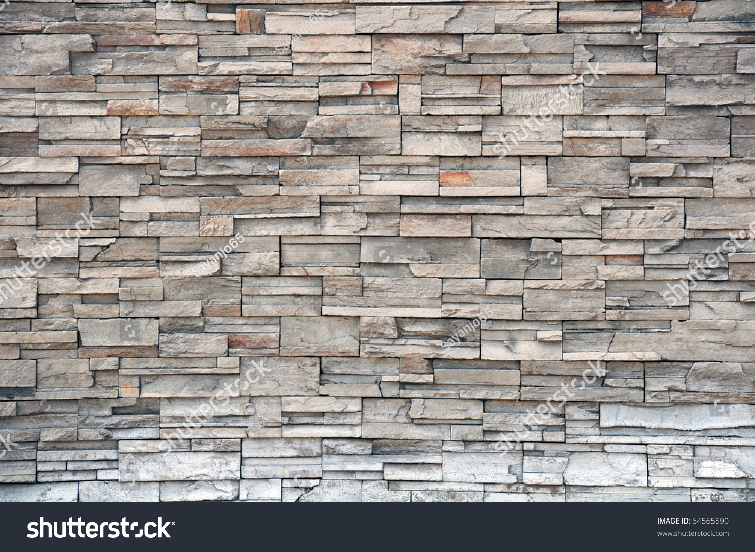Stone Brick Wall Modern Brick Stone Wall Stock Photo
