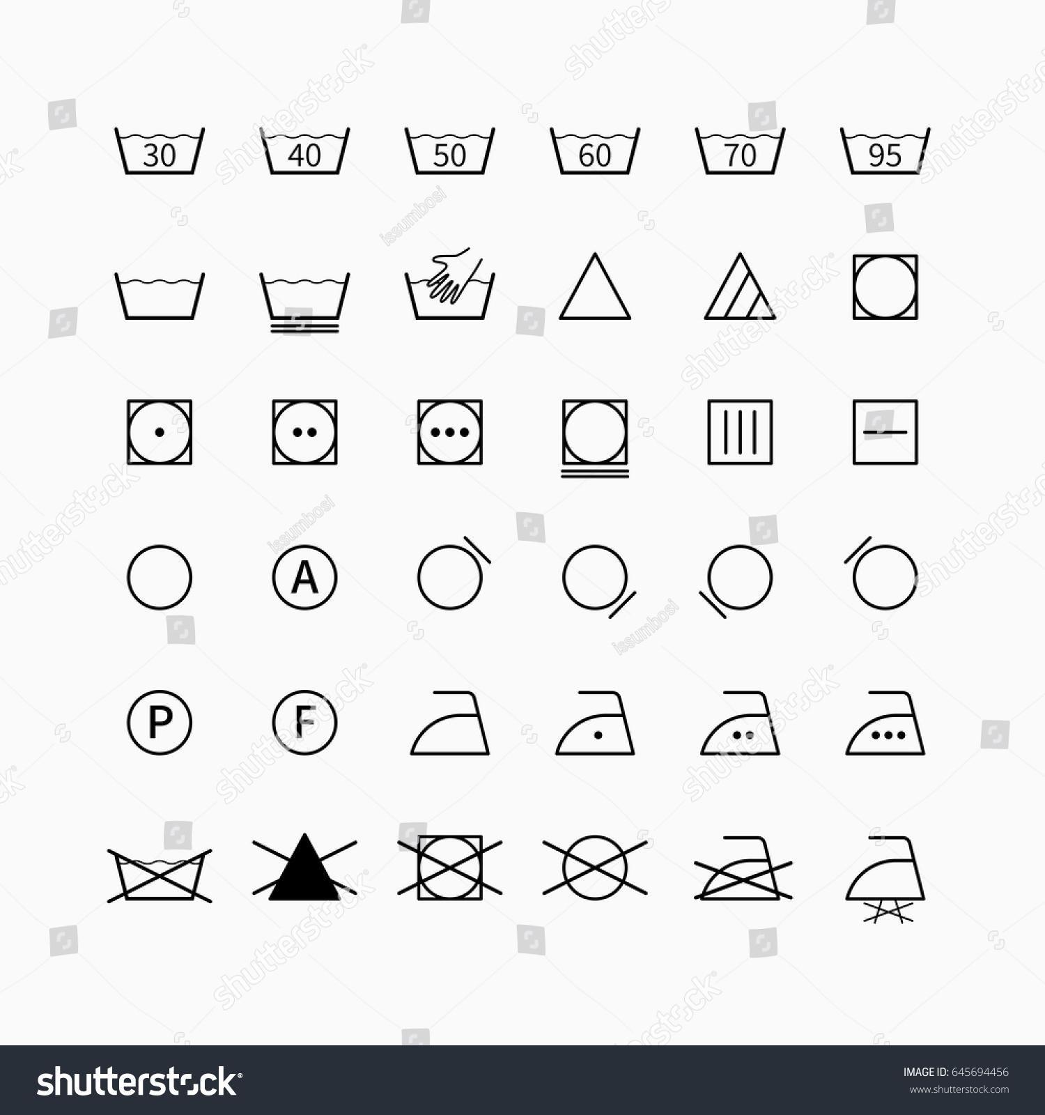 Laundry drycleaning vector symbols set garment stock vector laundry and drycleaning vector symbols set garment clothing care icons and washing labels buycottarizona