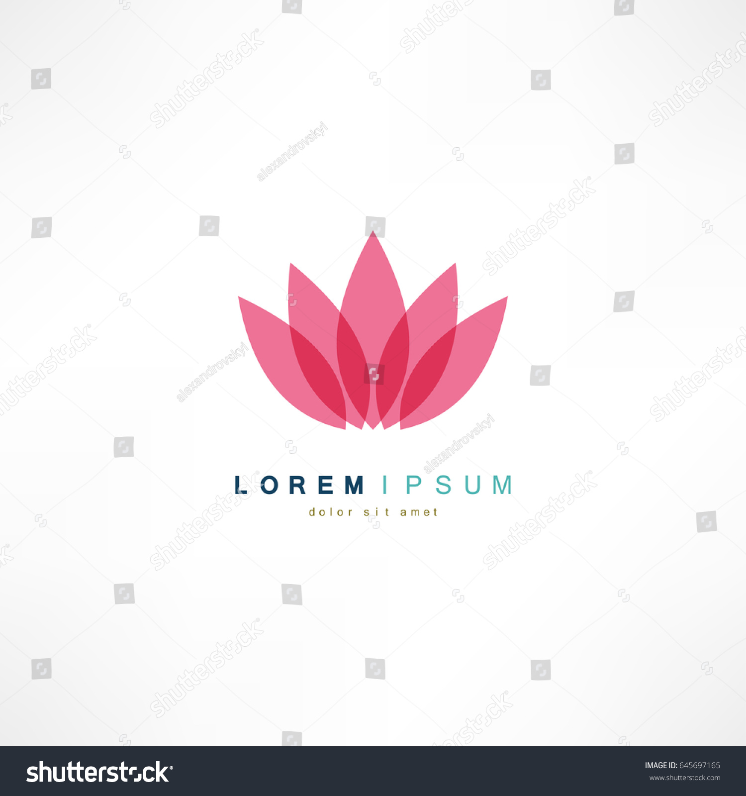 Pink flower icon on white background stock vector 645697165 pink flower icon on white background vector illustration dhlflorist Images