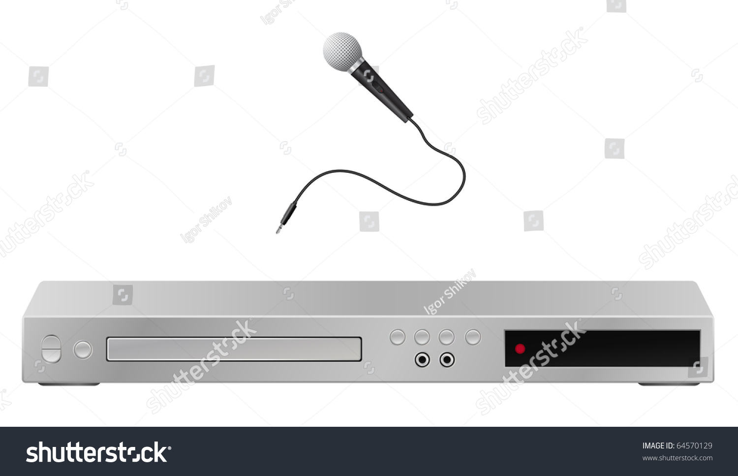 how to connect microphone to dvd player