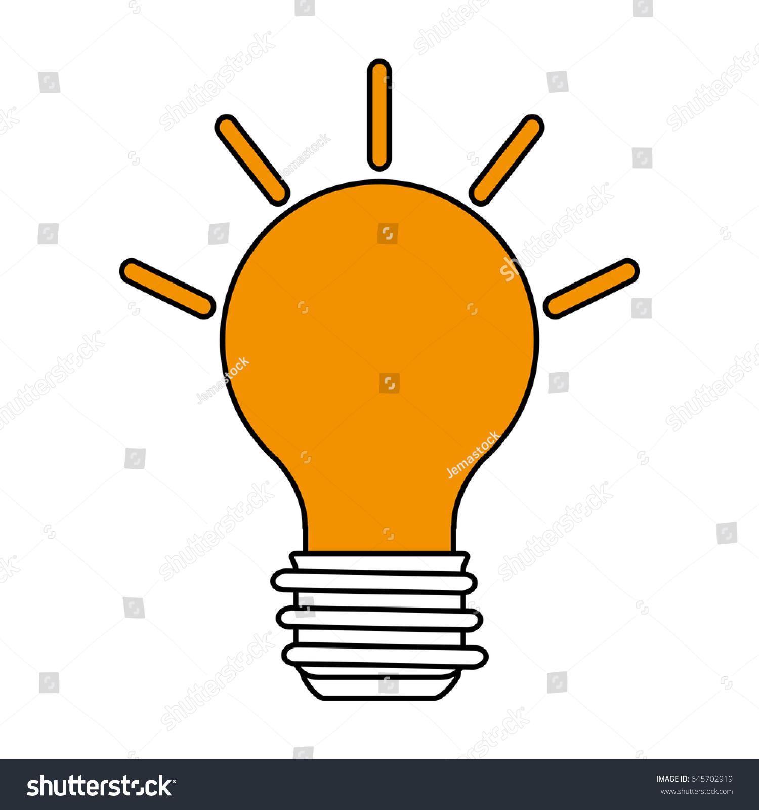 bulb illustration cartoon silhouette ez canvas