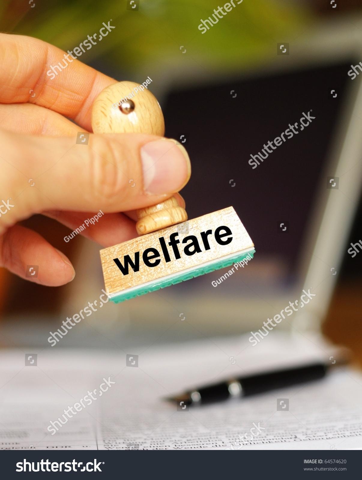 Social Welfare Concept Stamp Office Bureau Stock Photo (Edit