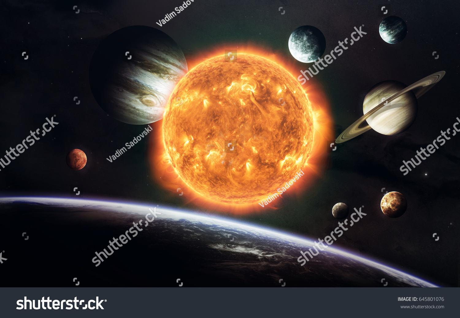 earth mars others science fiction space stock photo (edit now