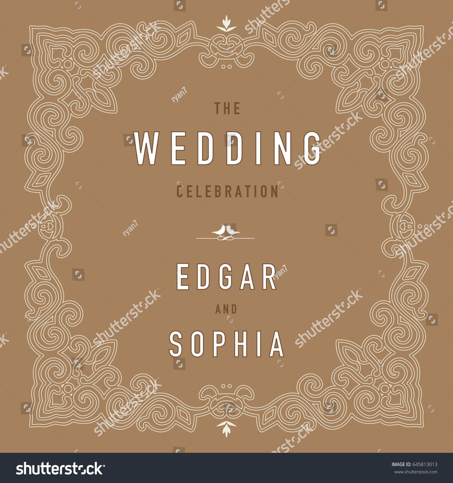 Wedding invitation design layout stock vector 645813013 shutterstock stopboris Image collections