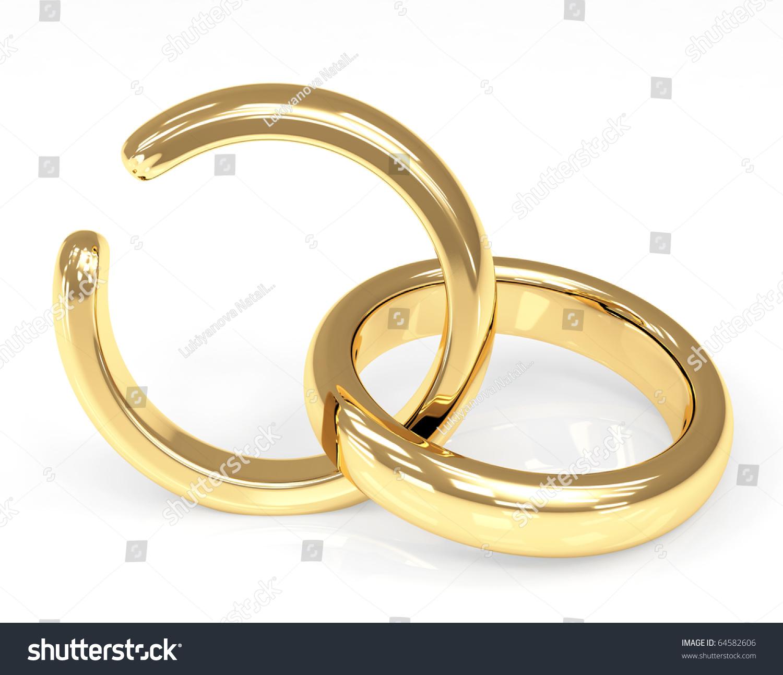 Symbol Divorce Broken Wedding Ring Stock Illustration 64582606
