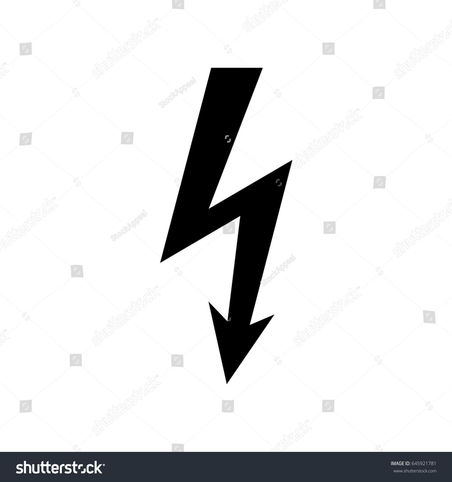 High voltage icon shock warning symbol stock vector 645921781 high voltage icon shock warning symbol buycottarizona