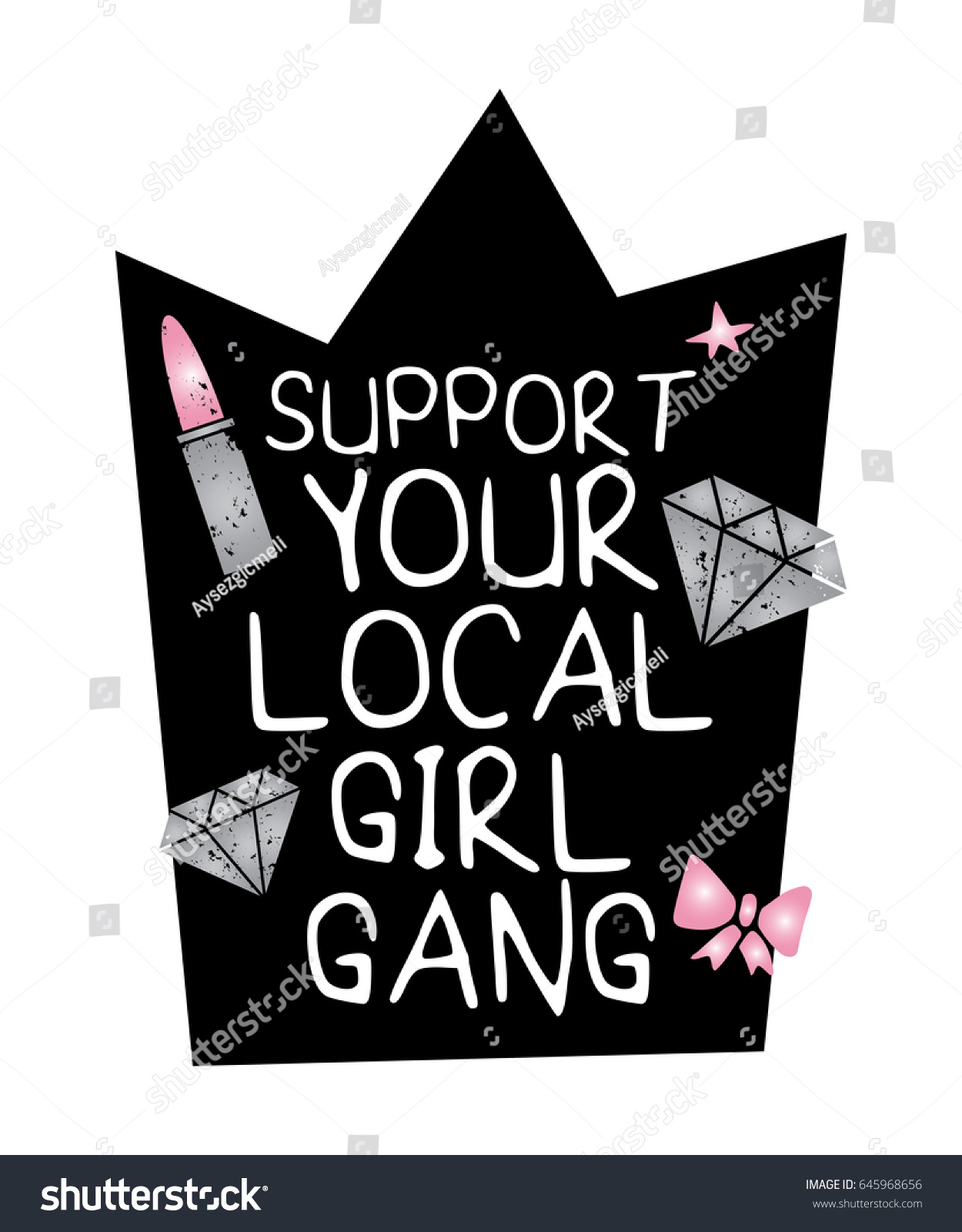 support your local girl gang fashion のベクター画像素材