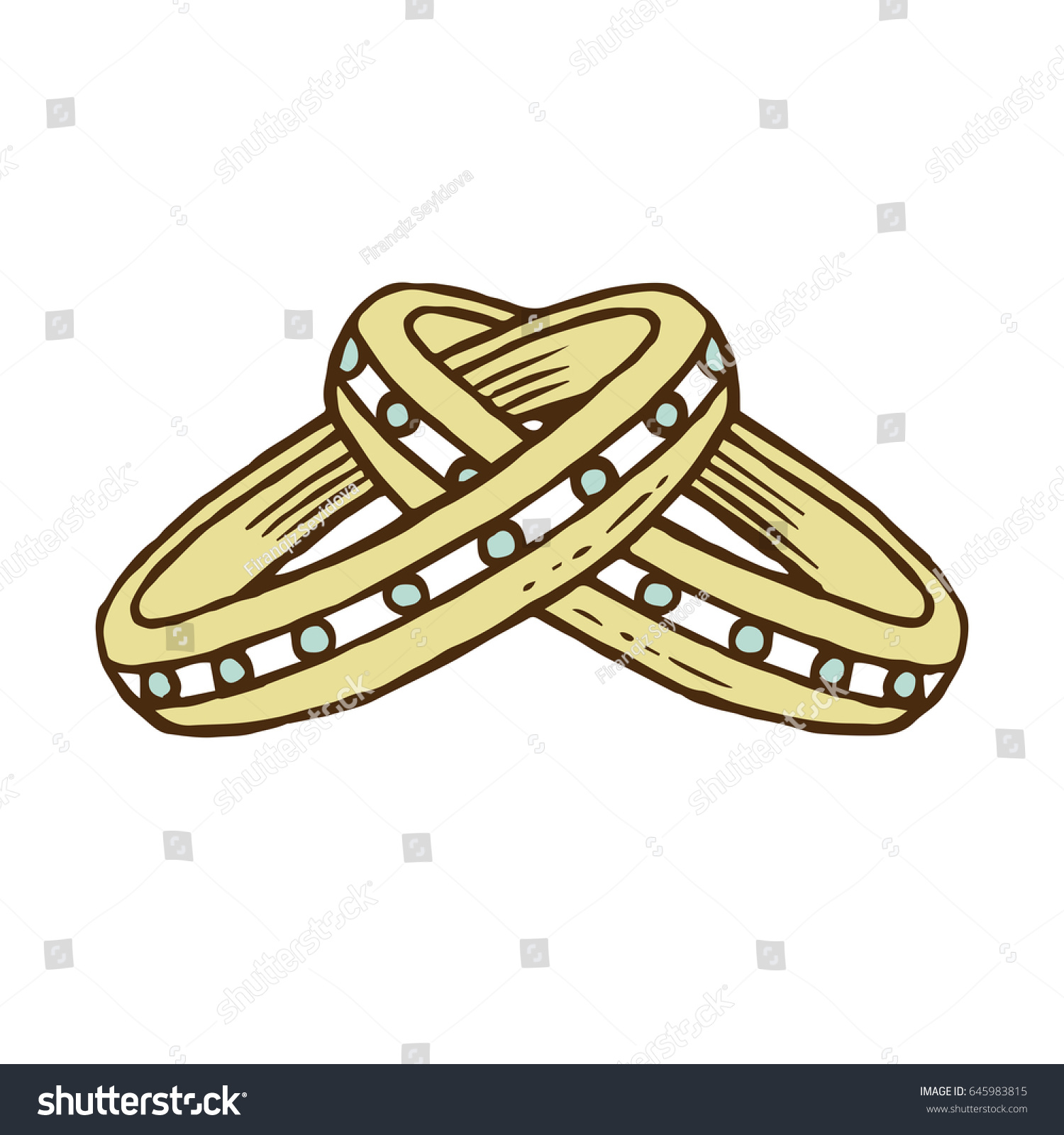 Wedding Ring Romantic Style Great Cards Stock Vector 645983815 ...