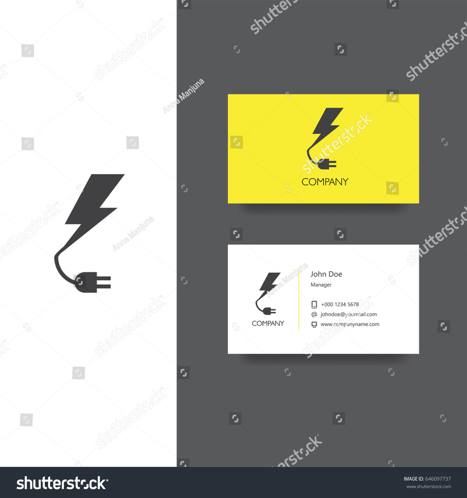Electronics Services Goods Company Logo Business Stock Vector ...
