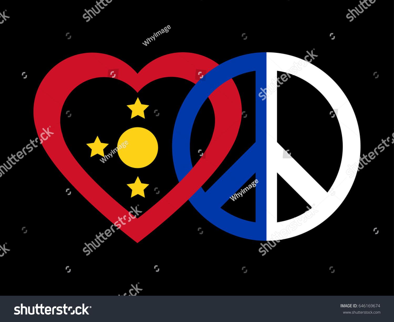Peace symbol flag philippines stock vector 646169674 shutterstock a peace symbol with the flag of philippines biocorpaavc Choice Image