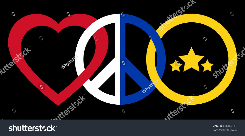 Peace symbol flag philippines stock vector 646169713 shutterstock a peace symbol with the flag of philippines biocorpaavc