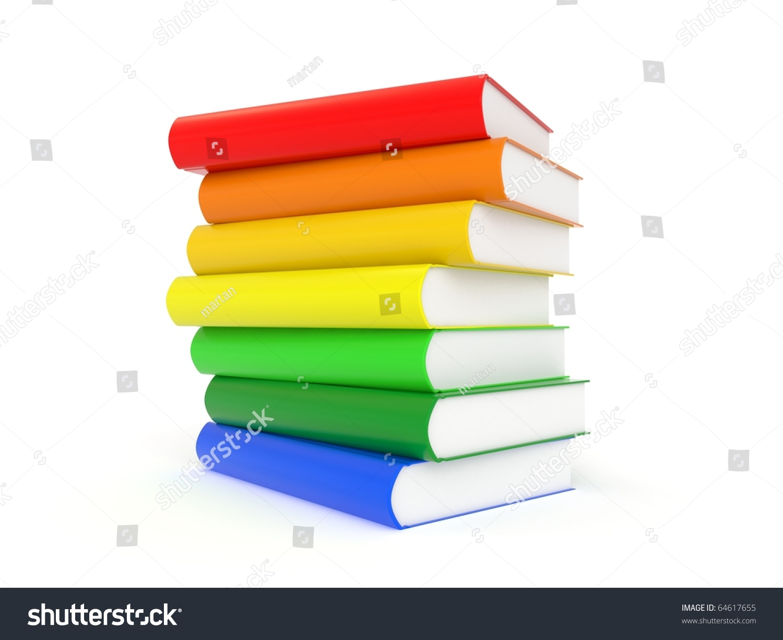 3 D Books Rainbow Colors Stock Illustration 64617655 - Shutterstock