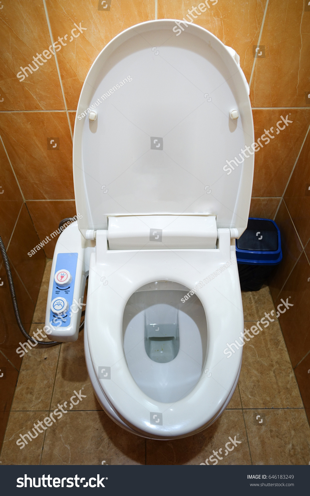 Japanese Hightech Modern Toilet Stock Photo (Edit Now) 646183249 ...