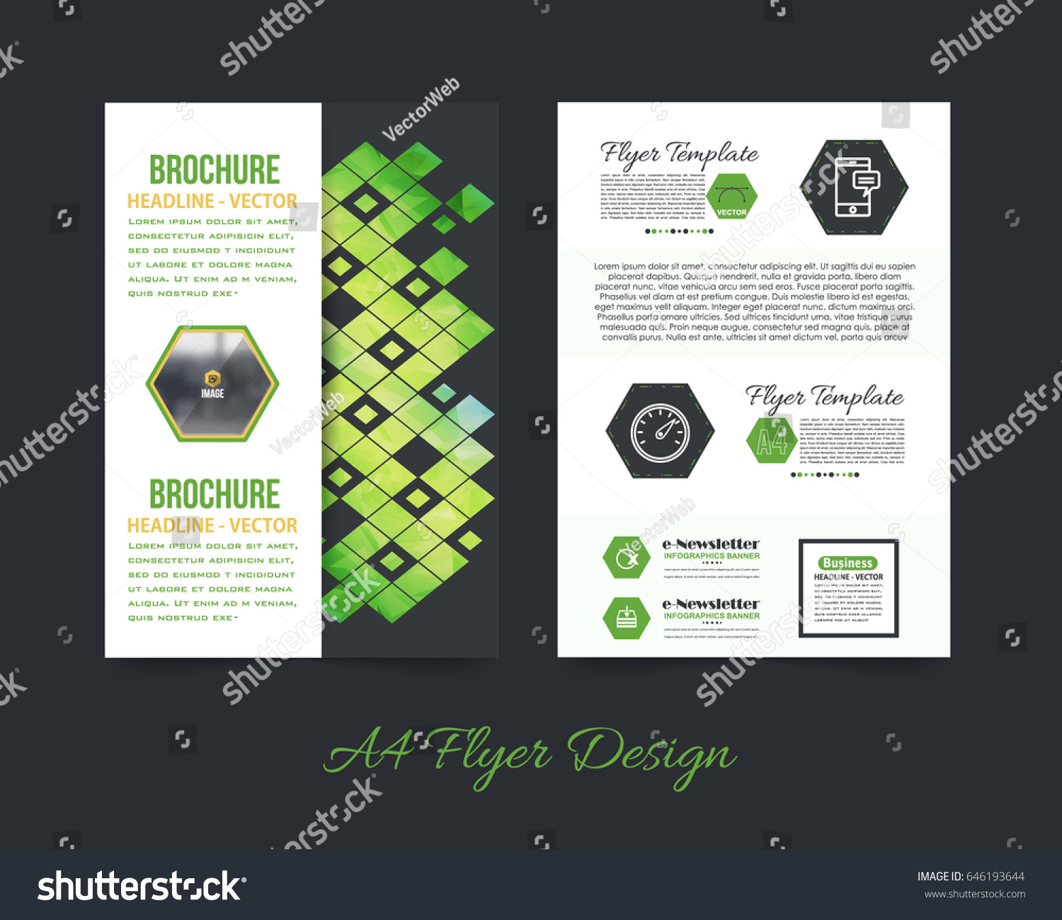 Business pamphlet low poly booklet template stock vector 2018 business pamphlet or low poly booklet template a4 document and vector background flyer polygonal flashek Gallery