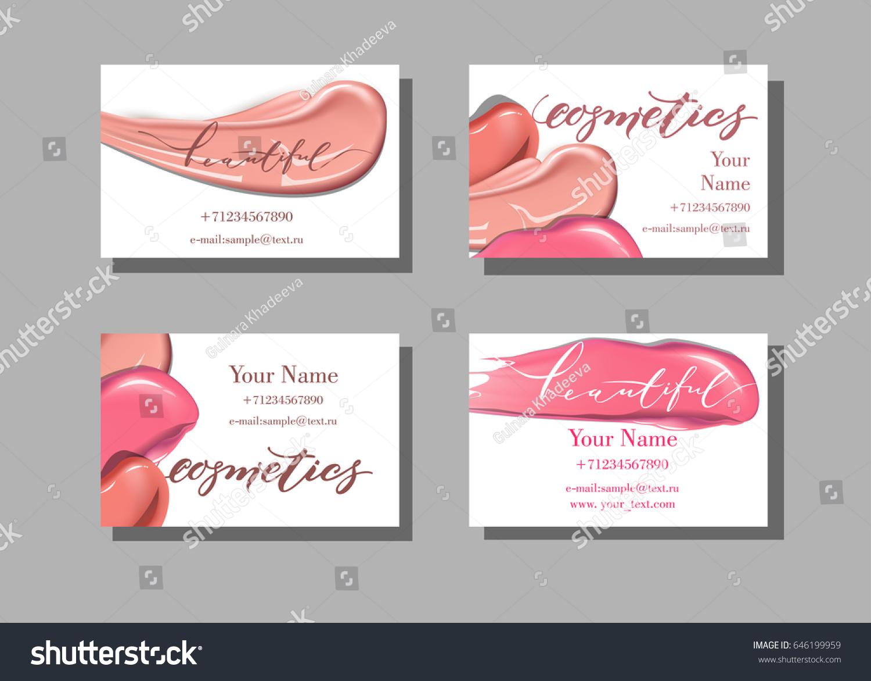 Makeup Artist Business Card Vector Template Stock Vector 646199959 ...