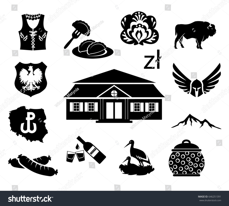 National symbols poland vector icon set stock vector 646251391 national symbols of poland vector icon set biocorpaavc