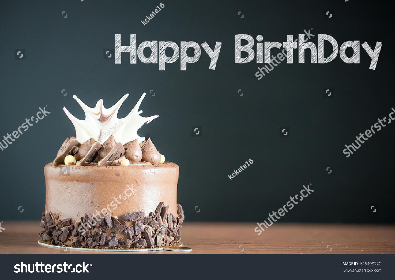 Mini Chocolate Cake Happy Birthday Text Stock Photo Edit Now